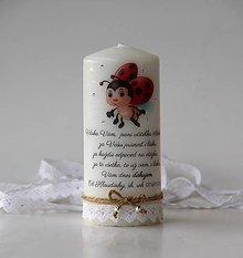 Svietidlá a sviečky - Dekoračná sviečka pre pani učiteľky v škôlke - 10825688_
