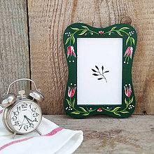 Rámiky - Maľovaný rámček - na chalupu (Zelená) - 10826318_