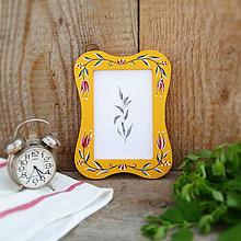 Rámiky - Maľovaný rámček - na chalupu (Žltá) - 10826424_
