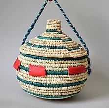 Dekorácie - TRADITIONAL Prútená šperkovnica z palmových listov - 10825746_