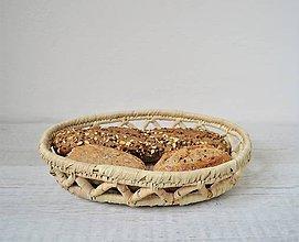 Pomôcky - Pletený palmový kôšík | Oval woven basket for bread - 10825782_
