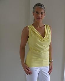 Tričká - Banánově žluté tričko...s vodou....M/L...ihned.... - 10826513_