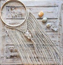 Dekorácie - Lapač snov Macrame Dream s krištálom - 10826796_