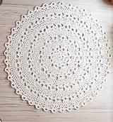Úžitkový textil - Veľký okrúhly koberec  (Maslová) - 10826338_