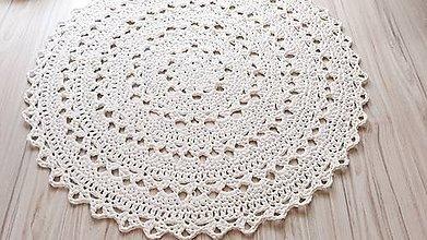 Úžitkový textil - Koberec - okrúhly (Maslová) - 10826348_