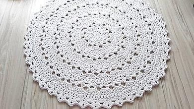 Úžitkový textil - Koberec - okrúhly (Biela) - 10826354_