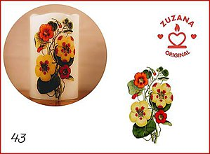 Svietidlá a sviečky - Kvetinky I. - 10827122_