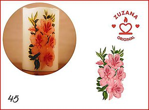 Svietidlá a sviečky - Kytica kvetov - 10827136_