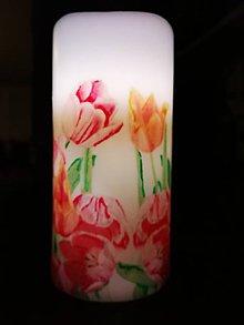 Svietidlá a sviečky - LED sviečka Tulipány - 10827158_