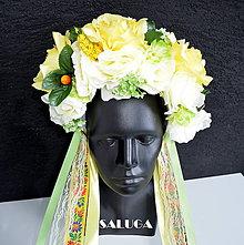 Ozdoby do vlasov - Žltá kvetinová parta - folklórna - 10826825_