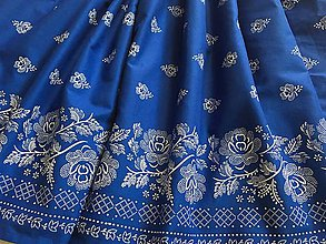 Detské oblečenie - Detská folk sukňa super točivá (Modrá) - 10826167_