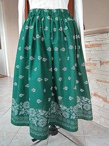 Detské oblečenie - Detská folk sukňa super točivá (Zelená) - 10826178_