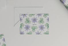 Papiernictvo - Akvarelová pohľadnica | ilustrácia Hepatica nobilis - 10825790_