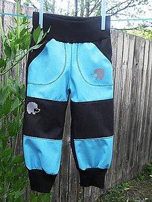 Detské oblečenie - softshellové kalhoty - 10825568_
