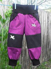 Detské oblečenie - softshellové kalhoty - 10825576_