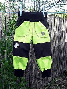Detské oblečenie - softshellové kalhoty - 10825579_