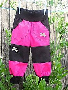 Detské oblečenie - softshellové kalhoty - 10825583_