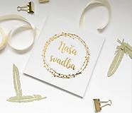 Papiernictvo - Svadobná kniha hostí Dots Wreath - 10827483_