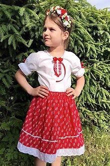 Detské oblečenie - Detský kroj v červenom - 10825142_