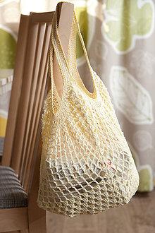 Nákupné tašky - Sieťovka strakatá žltá - 10825256_