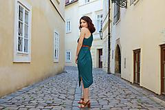 Šaty - Petrolejovo zelené multifunkčné šaty - 10826968_