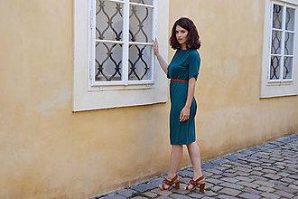 Šaty - Petrolejovo zelené multifunkčné šaty - 10826936_