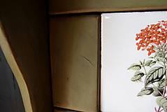 Nábytok - Vidiecka vešiak-o-polica olivová - 10825768_