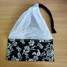 Úžitkový textil - Zero waste Aj aj vrecúško  (Čiernobiele) - 10825477_