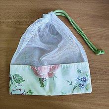 Úžitkový textil - Zero waste Aj aj vrecúško  (Ruža) - 10825487_