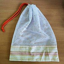 Úžitkový textil - Zero waste Aj aj vrecúško  (Pásiky - väčšie) - 10825497_