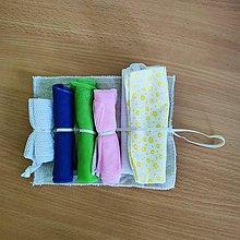 Úžitkový textil - Zero waste ľudová sada na nákup - 10825604_