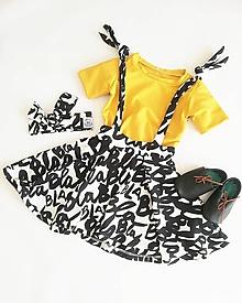 Detské oblečenie - Rastúca sukňa s trakmi na viazanie Blabla - 10826927_