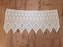 Úžitkový textil - Háčkovaná záclona - 10827547_