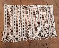 Úžitkový textil - Háčkovaná záclona - 10827554_