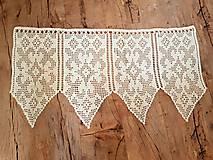 Úžitkový textil - Háčkovaná záclona - 10827560_