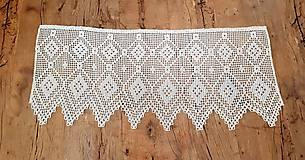 Úžitkový textil - Háčkovaná záclona - 10827569_