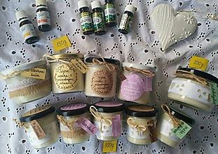 Drobnosti - Ručne vyrábaná sviečka zo sójového vosku so 100% prírodnými silicami - 10827336_