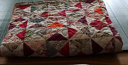 Úžitkový textil - Patchworková deka/prehoz-klasik - 10826031_