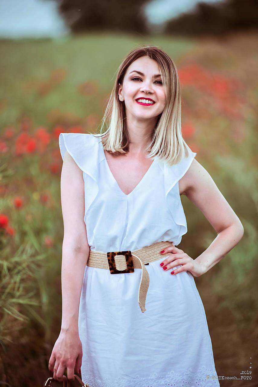 Letné šaty biele