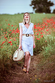 Šaty - Letné šaty biele - 10826944_