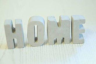 Dekorácie - betónový nápis home - 10826397_