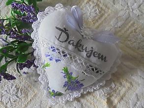 Dekorácie - Srdiečko pre teba-Ďakujem-9cm - 10825374_
