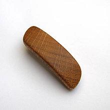 Ozdoby do vlasov - Drevená spona do vlasov malá - dubová priečna - 10825849_