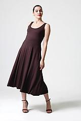 Šaty - Šaty hnedé midi - 10829516_