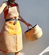 Úžitkový textil - jutová zástěra - 10829464_