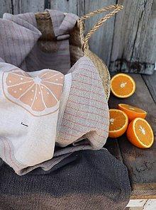 Úžitkový textil - lněná zástěra - 10829453_