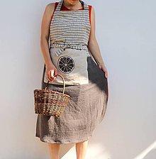 Úžitkový textil - lněná zástěra - 10829457_