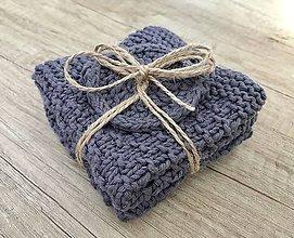 Úžitkový textil - Set dvoch uteráčikov s darčekom (Modrá) - 10828338_