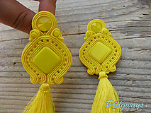 Náušnice - Tassels collection Yellow...soutache - 10829851_