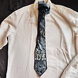 Doplnky - Hodvábna kravata Mramor - 10829416_